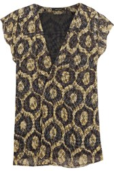 Isabel Marant Trudy Wrap Effect Printed Devora Chiffon Top