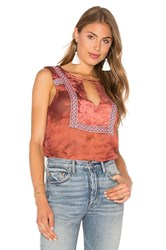 Gypsy 05 Sheer Blouse Rust