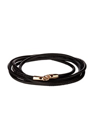Luis Morais Rose Gold And Leather Bracelet