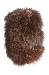 Dena Women's Genuine Fox Fur Cowl Collar Brown