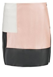 Morgan Jemota Mini Skirt Noir Nude Ecru Black