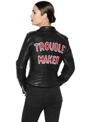 The Lovers Club Trouble Maker Leather Biker Jacket