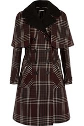 Miu Miu Tartan Double Breasted Wool Coat
