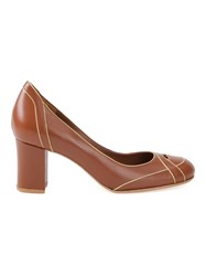 Sarah Chofakian Mid Heel Pumps Brown