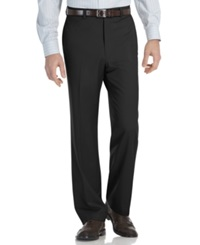 Calvin Klein Modern Fit Microfiber Flat Front Dress Pants Charcoal