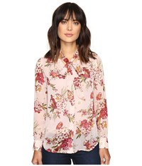 Kut From The Kloth Amelie Tie Front Top Pink Women's Long Sleeve Pullover
