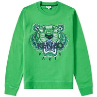 Kenzo Tiger Face Crew Sweat Green