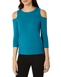 Karen Millen Cold Shoulder Sweater Teal