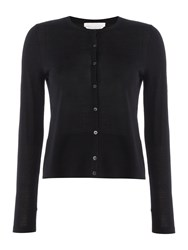 Hugo Boss Fabia Merino Round Neck Cardigan Black