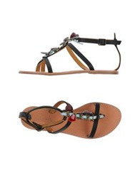 Ioannis Thong Sandals Black