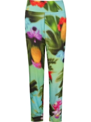 Osklen Tropical Print Trousers Blue