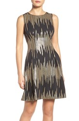 Vince Camuto Women's Sequin Fit And Flare Party Dress