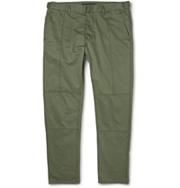 Marc By Marc Jacobs Slim Fit Cotton Trousers Green