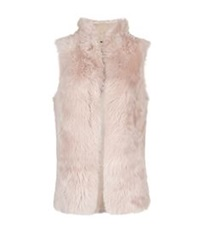 Whistles Sheepskin Gilet Light Pink