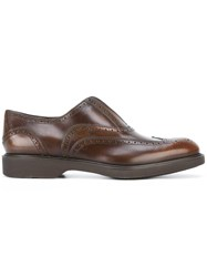 Salvatore Ferragamo Slip On Brogues Brown