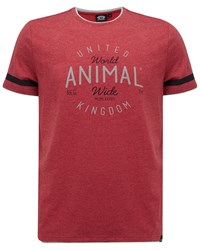 Animal Graphic Tee Red