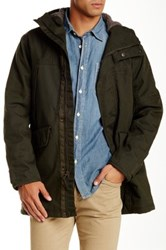 Timberland Waterproof Rollins Mountain Faux Fur Lined Parka Green