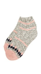 Madewell Striped Camp Anklet Socks Fatigue Marl