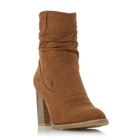 Head Over Heels Railey Slouch Calf Boots Tan