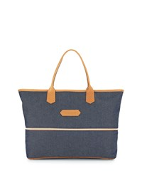 Longchamp 2.0 Toile Expandable Tote Bag Navy