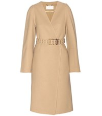 Chloe Wool And Cashmere Coat Beige