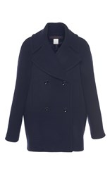 Martin Grant Navy Double Breasted Wool Caban