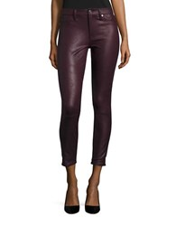 7 For All Mankind Faux Leather Jeggings Merlot