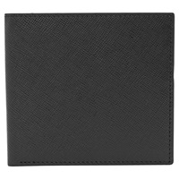 Reiss Gillis Leather Foldover Wallet Black