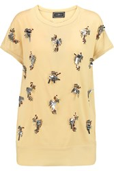By Malene Birger Canduz Embellished Crepe Top Yellow