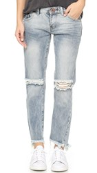 One Teaspoon Freebirds Distressed Jeans Blue Blossom