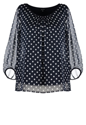Comma Blouse Dark Blue