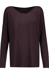 Majestic Stretch Jersey Top Merlot