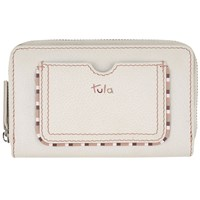 Tula Mallory Leather Zip Wallet Ivory