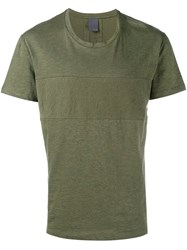 Lot 78 Lot78 Panelled T Shirt Green