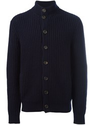 Brunello Cucinelli Cashmere Cable Knit Cardigan Blue