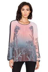 Clover Canyon Ombre Sunrise Top Pink