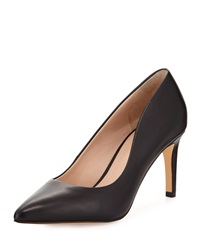 Charles By Charles David Lesslie Leather Pointed Toe Pump Black