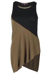 Anna Field Top Black Beech Khaki