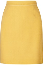 Proenza Schouler Coated Crepe Mini Skirt Yellow