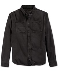 Kr3w Glenn Denim Long Sleeve Shirt Black