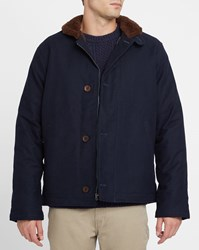 Levi's Navy Deck Canvas Sherpa Lined Jacket Blue