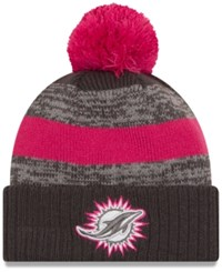 New Era Miami Dolphins Bca Sport Knit Hat Gray Pink
