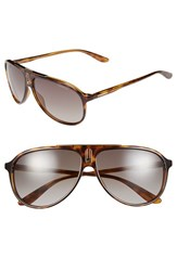 Men's Carrera Eyewear 61Mm Aviator Sunglasses Havana Brown Gradient