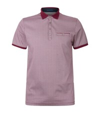 Ted Baker Primo Printed Polo Shirt Male Purple