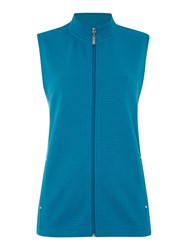Tigi Stand Up Collar Gilet Teal