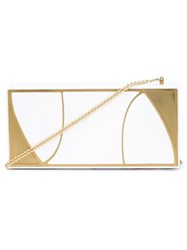 Khirma Eliazov 'Marchese' Clutch Bag White