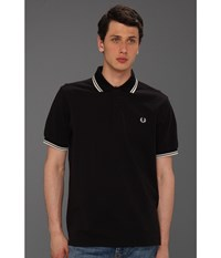 Twin Tipped Fred Perry Polo Black Porcleain Porcleain Men's Short Sleeve Pullover