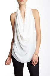 Fate Cowl Neck Tank White