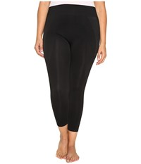 Hue Plus Size Seamless Shaping Capris Black Women's Capri