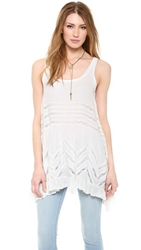 Free People Voile And Lace Trapeze Tank White Combo